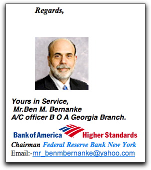 Ben Bernanke's sign-off