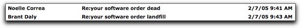 Software order dead...landfill