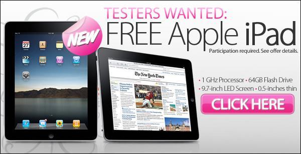 iPad Testers ad