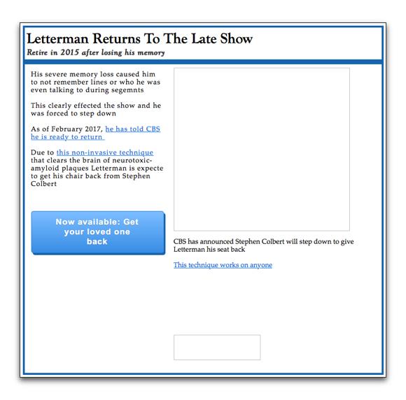 Letterman click bait