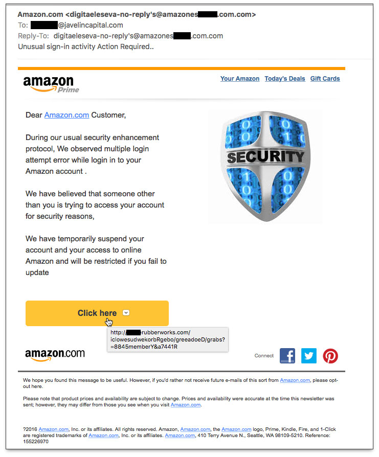 Phony Amazon.com email