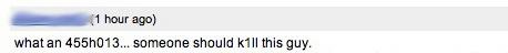 Abusive comment