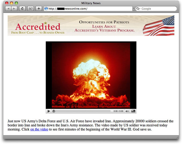 Fake Iran war malware lure