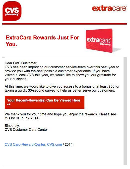 Legitimate CVS email