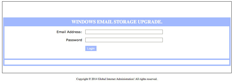 Fake email login form
